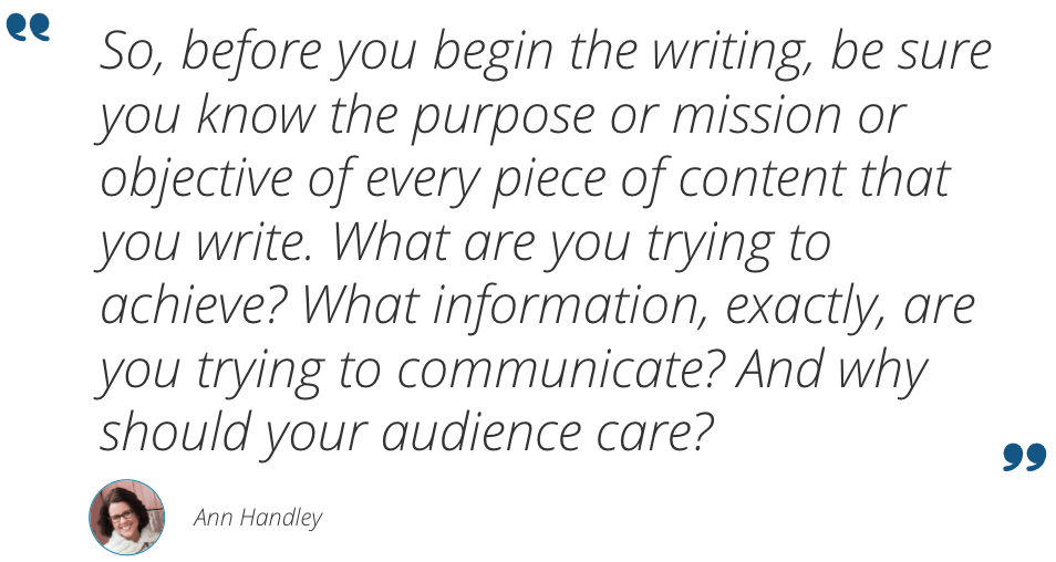 Ann Handley quote about copywriting